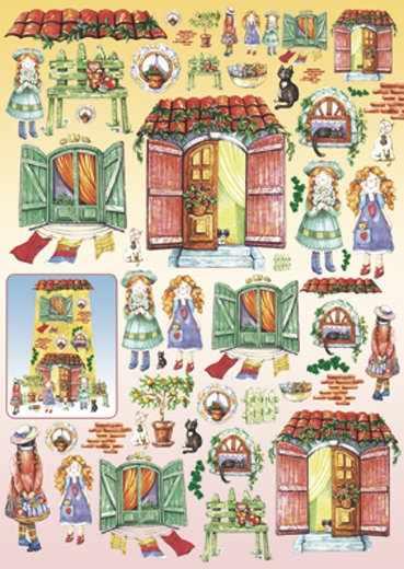 """DFG267 Карта для декупажа Stamperia """"Детская"""", 1 лист, 50х70 см   ."""