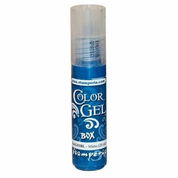 "KAG01BL  Краска Color Gel"" 20 мл, Stamperia,на водной основе,  20 мл  темно-голубой ."