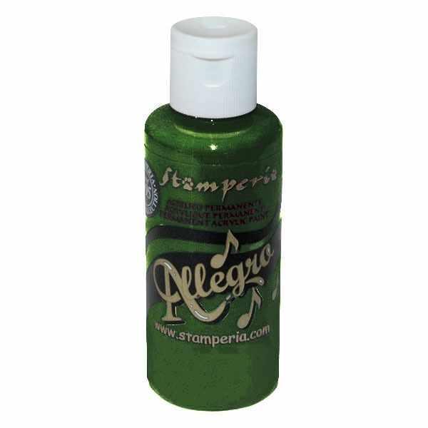 """KAL100 Акриловая краска """"Allegro"""",  59 мл, 3,4хh10 см  зеленый ."""