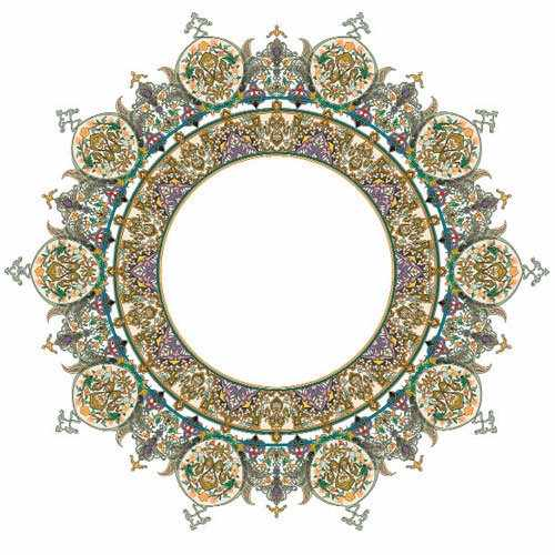 Трансфер  для стекла и керамики (запекаемый) с золотом ''Турецкий круглый поднос'' (OD-133)