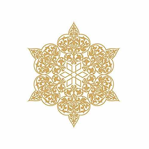 Трансфер декоративный (V-029) золотой ''Ажурная салфетка''