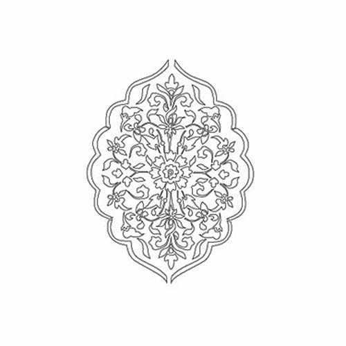 """Трансфер контурный (KNT-038) для стекла и керамики (запекаемый) """"Цветочная арабеска"""""""