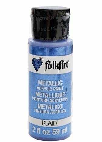 Акрил.краска FolkArt металлик, синий барвинок, 59 мл (Арт. PLD-00669)