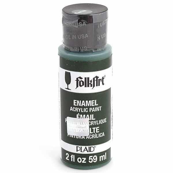 Эмалевая акрил.краска FolkArt Enamels т.зеленый, 59 мл (Арт. PLD-04020)