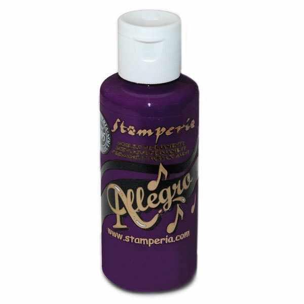 """KAL94 Акриловая краска """"Allegro"""",  59 мл, 3,4хh10 см  пурпурно-фиолетовый ."""