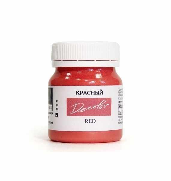 """0512144 Красный, краска """"Деколор"""", 50 мл"""