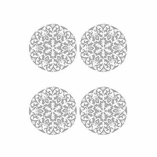 Трансфер декоративный (V-017) серебро ''Ажурная салфетка''