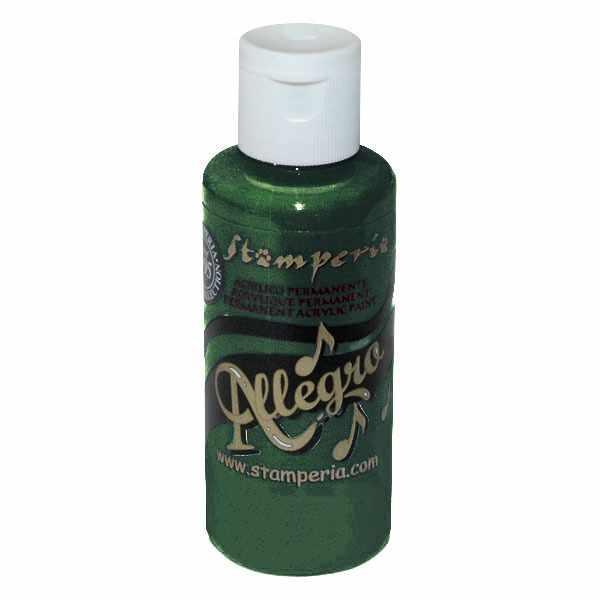 """KAL87 Акриловая краска """"Allegro"""",  59 мл, 3,4хh10 см  зелено-чёрный ."""