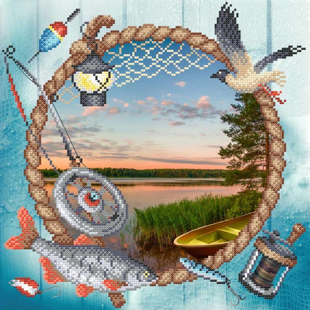Г-128 Сезон рыбалки - схема для вышивания (М.П. Студия)