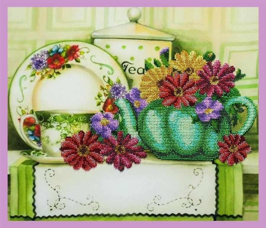 Р-333 Цветочный чай - набор для вышивания