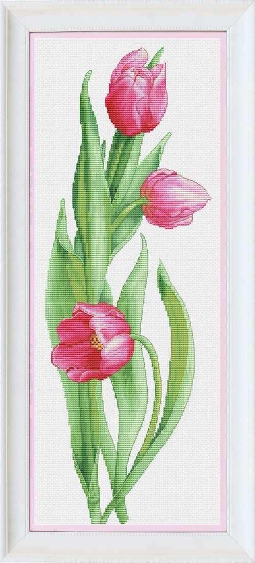 VN-050 Розовые тюльпаны