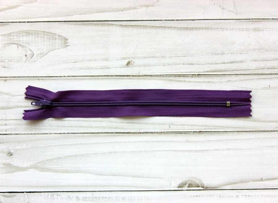 G003A Молния спираль н/р 18 см, цвет т.сиреневый №170
