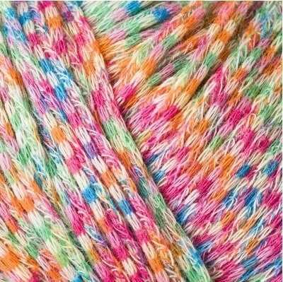 Пряжа Schachenmayr Arizona Цвет.00086 бел.роз.гол.зел.оранж.