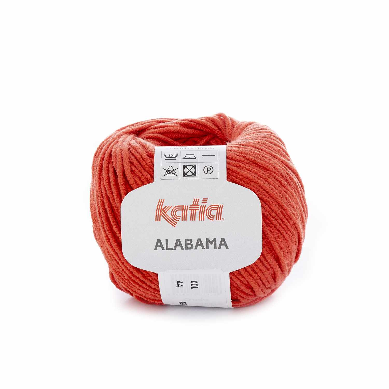 Пряжа Katia Alabama Цвет.44 морковный