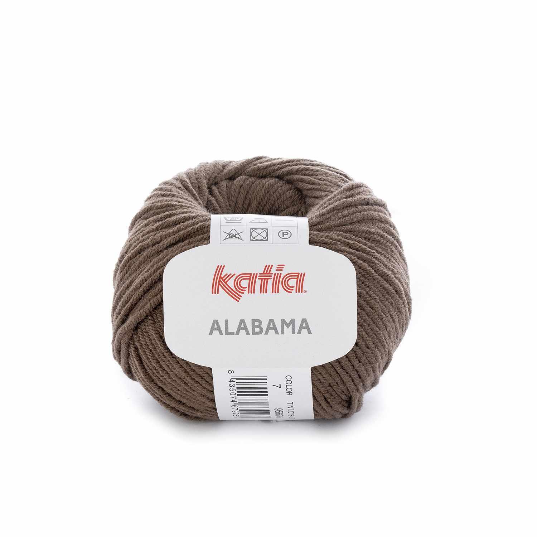 Пряжа Katia Alabama Цвет.7 кофе