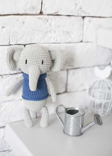 2724101 Наборы для вязания амигуруми: Мягкая игрушка «Слоненок Мо»
