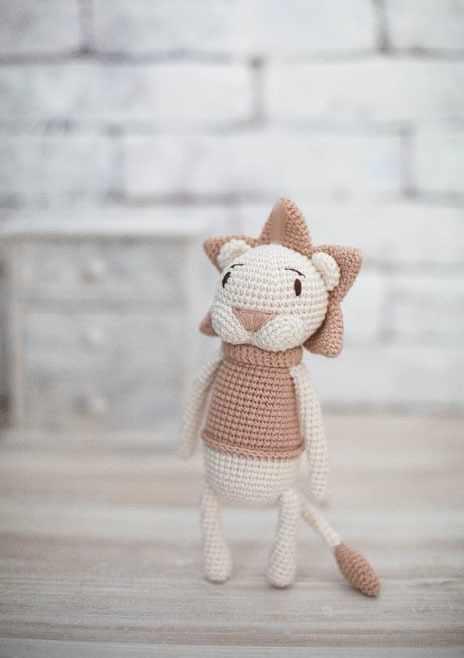 2724102 Наборы для вязания амигуруми : Мягкая игрушка «Львёнок Чарли»