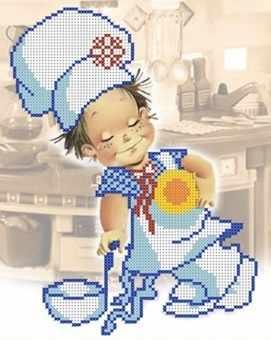 ДА4-015 Веселый поваренок - схема для вышивания (Наследие)
