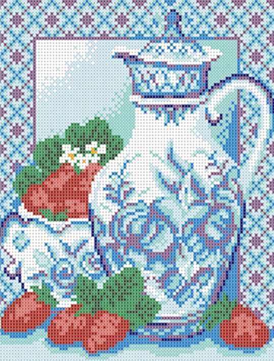 ДА4-059 Гжель 2 - схема для вышивания (Наследие)