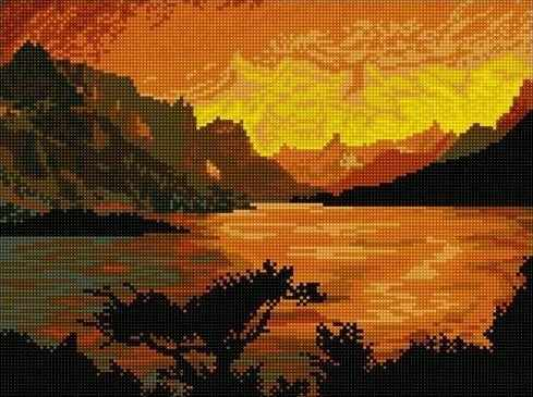 710AY-114 Закат на озере
