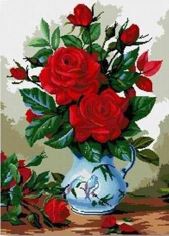710AY-375 Ваза с красными розами
