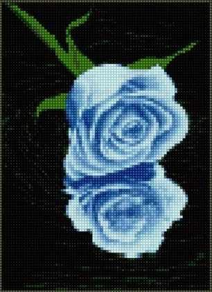 71005-05 Голубая роза на воде