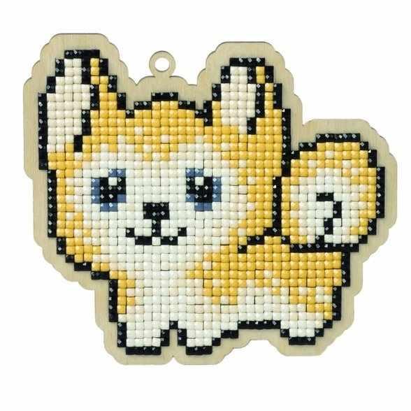 Алмазная вышивка W0107 - Собака Джек - подвеска
