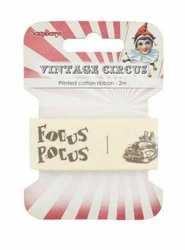 SCB390416 Лента декоративная Старый цирк
