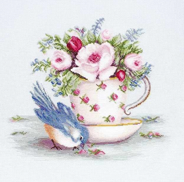 BA2324 Птичка и чашка чая (Luca-S)