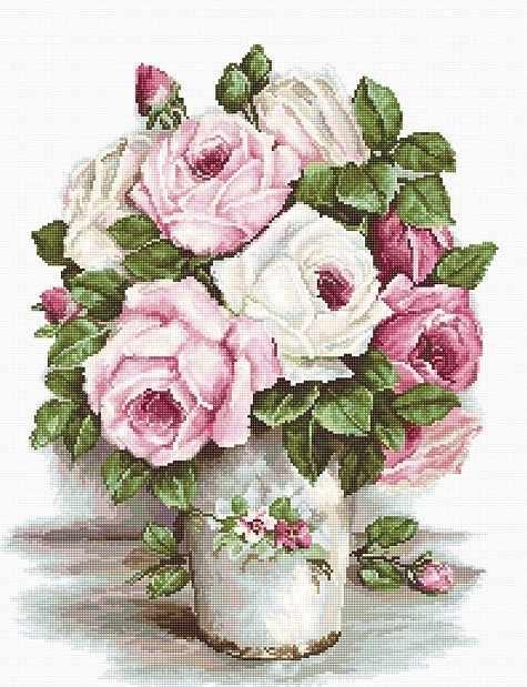 B2329 Смешанные розы (Luca-S)