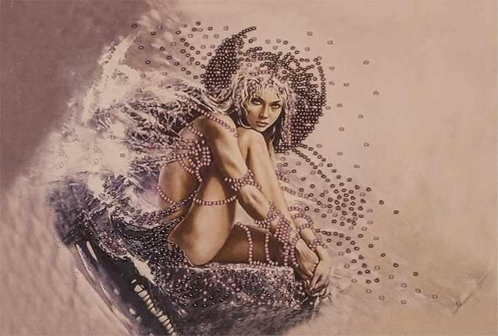 """FLF-005 Набор для вышивки бисером """"Девушка ангел"""""""