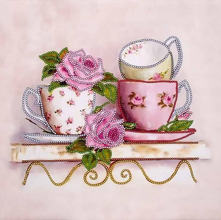"""FLS-037 Схема для вышивания бисером """"Чайные розы 2"""""""