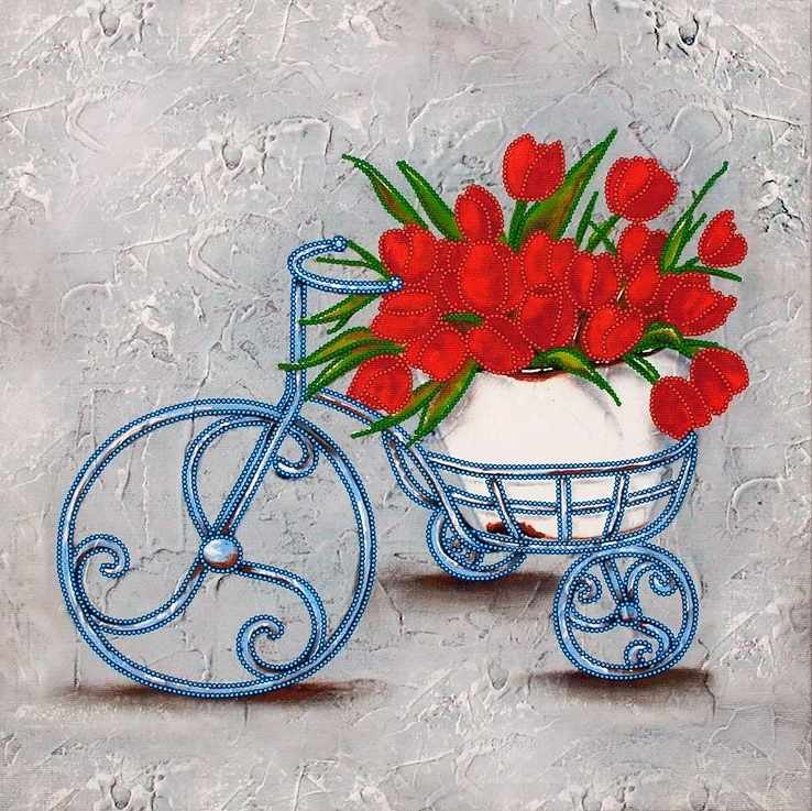"""FLS-063 Схема для вышивания бисером """"Феерия цветов-3"""""""