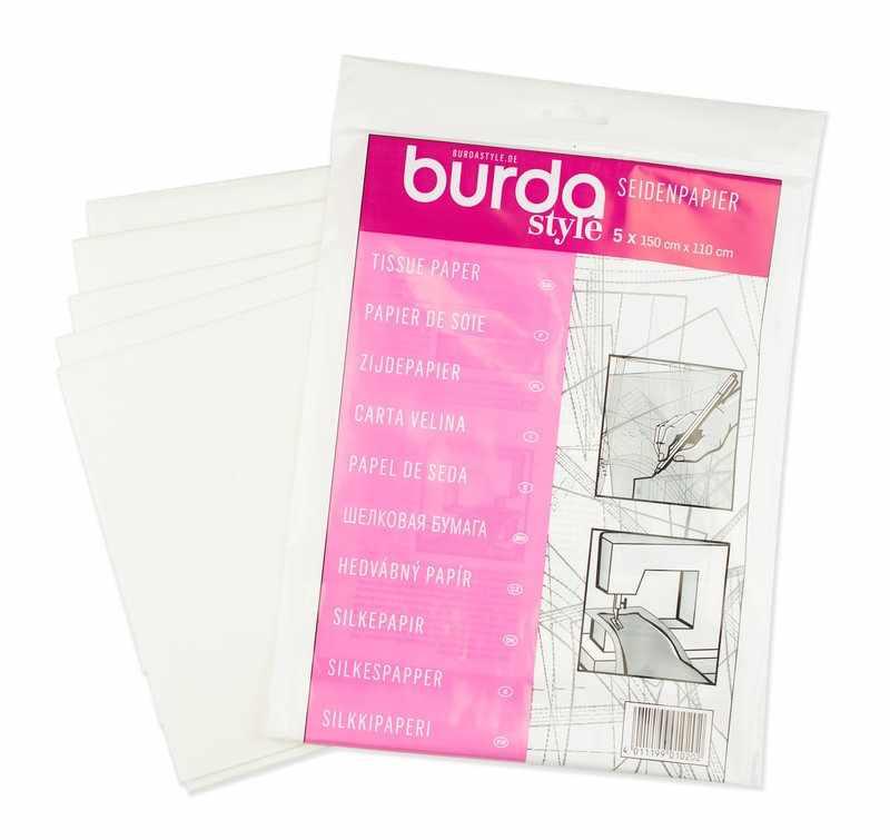 1020 A Калька (полупрозрачная шелковая бумага)Burda 150см*110см (5шт)