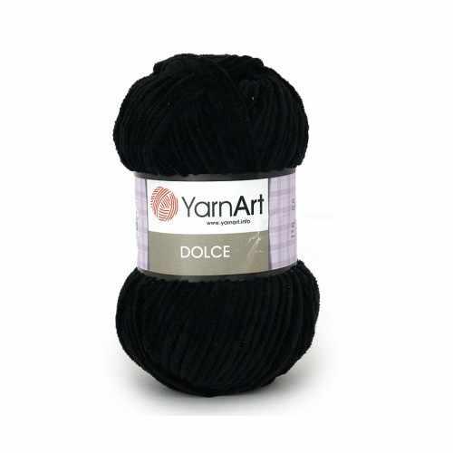 Пряжа YarnArt Dolce Цвет. 742 Черный