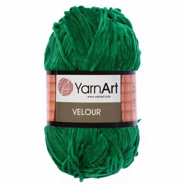 Пряжа YarnArt  Velour Цвет. 856 Трава