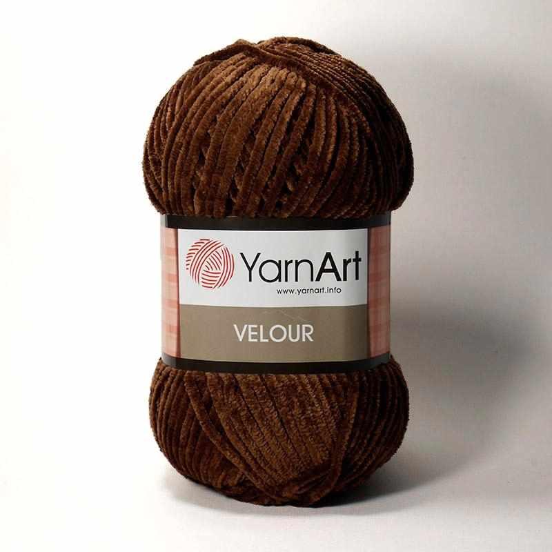 Пряжа YarnArt Velour Цвет. 852 Коричневый