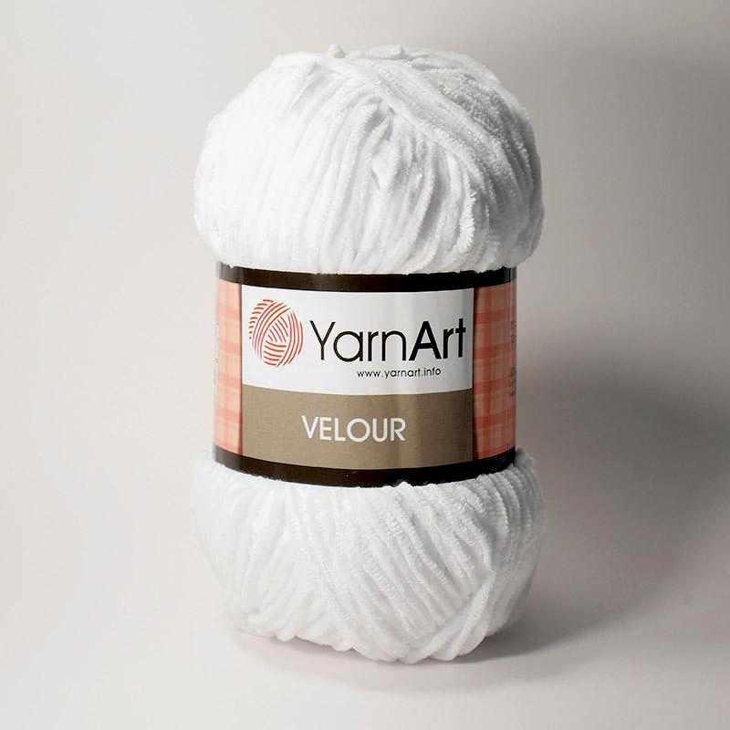 Пряжа YarnArt Velour Цвет. 840 Белый
