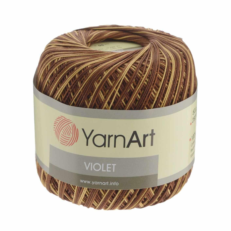 Пряжа YarnArt Violet Melange Цвет. 17 Шоколад-коричн.