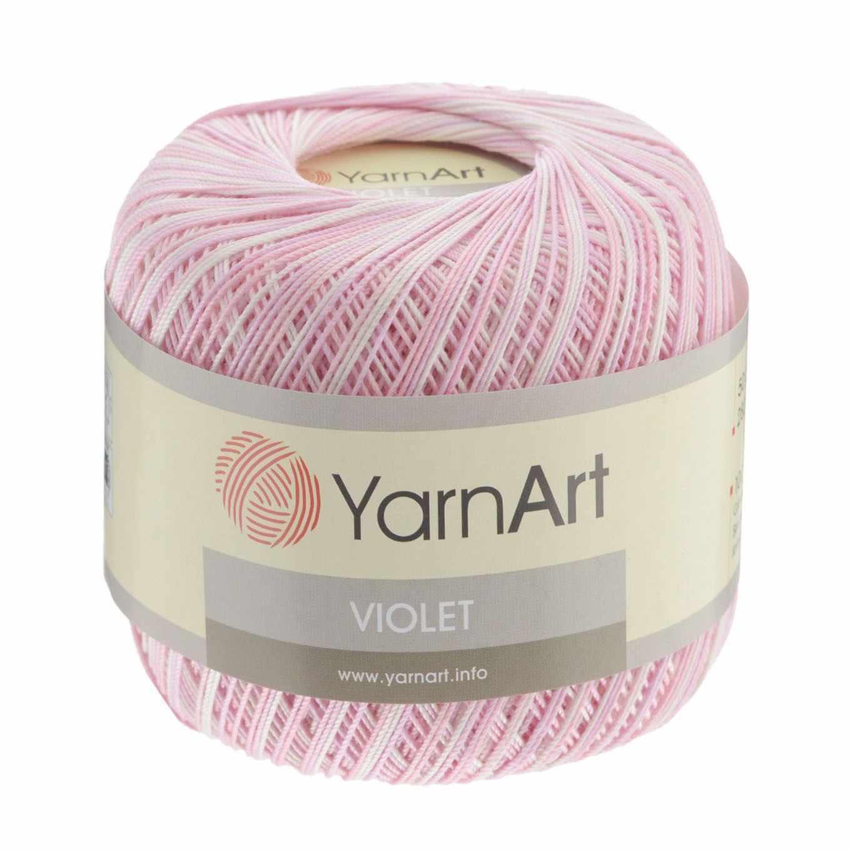 Пряжа YarnArt Violet Melange Цвет. 3051 Роз-бел-сир.