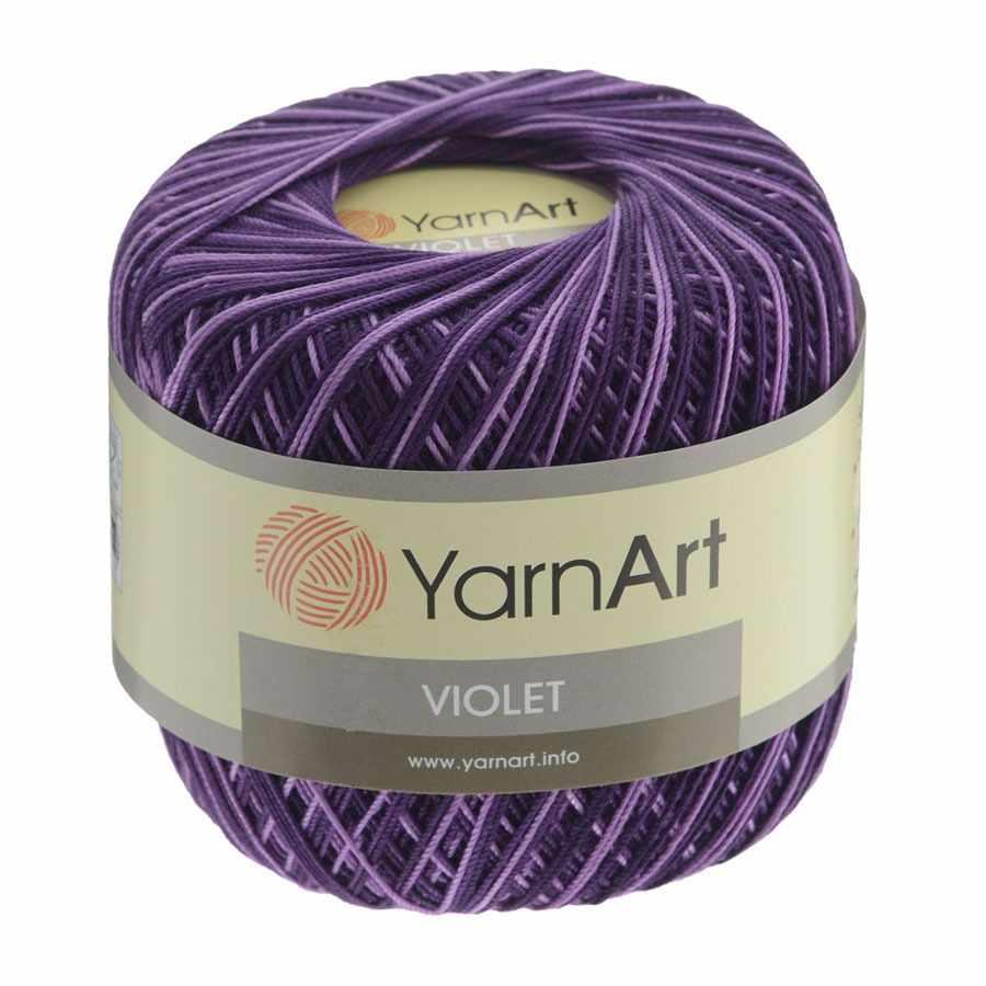 Пряжа YarnArt Violet Melange Цвет. 68 Фиалка-сирень