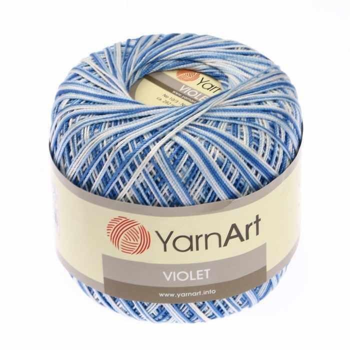 Пряжа YarnArt Violet Melange Цвет. 5355 Белый-синий