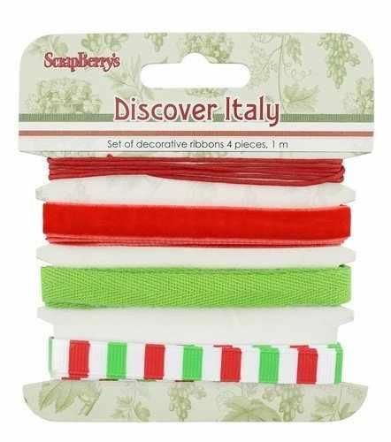 SCB390521 Набор декоративных лент Итальянские каникулы, 4шт по 1м