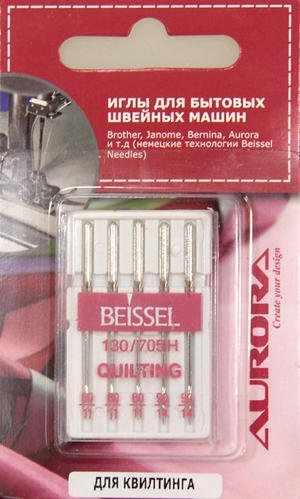 КВТ/80-90 Иглы квилтинг Aurora №№80-90