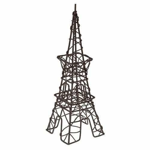 SCB27051 Металлическая мини Эйфелева башня, коричневая 6X11X19,5см