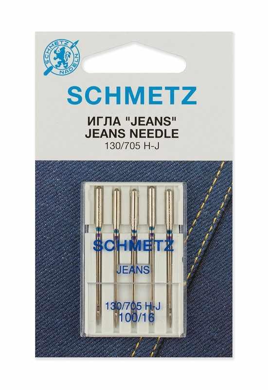 0701237 Иглы для джинсы Schmetz 130/705H-J № 100, 5 шт.