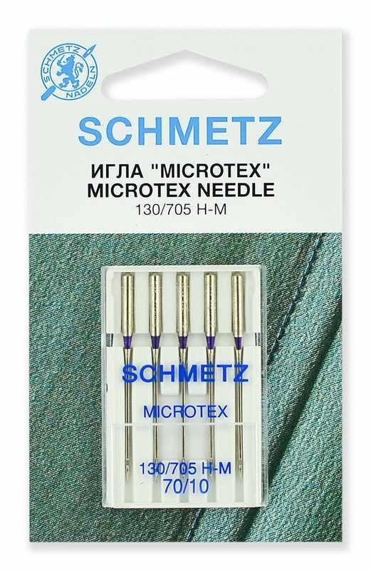 0701259 Иглы микротекс (особо острые) Schmetz 130/705H-M № 70, 5 шт.