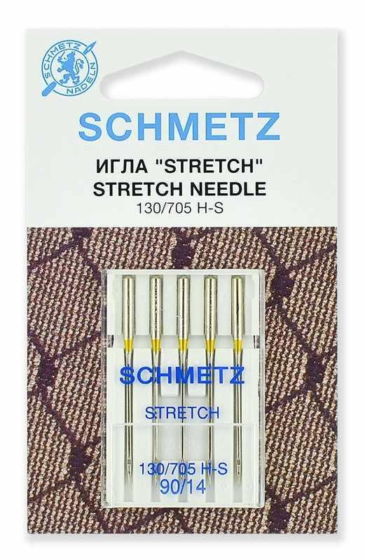 0701309 Иглы стретч Schmetz 130/705H-S № 90, 5 шт.