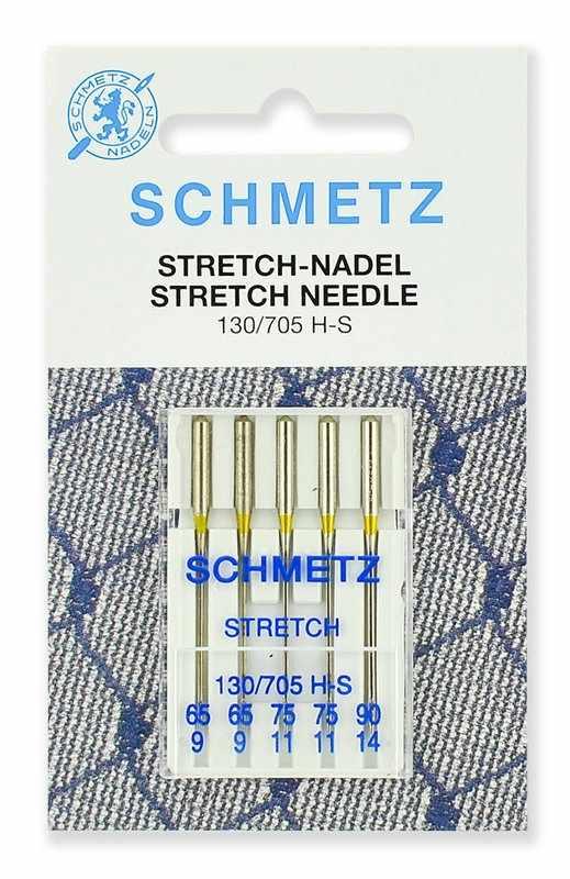 0702252 Иглы стретч Schmetz 130/705H-S №65 (2) 75(2), 90(1) 5 шт.