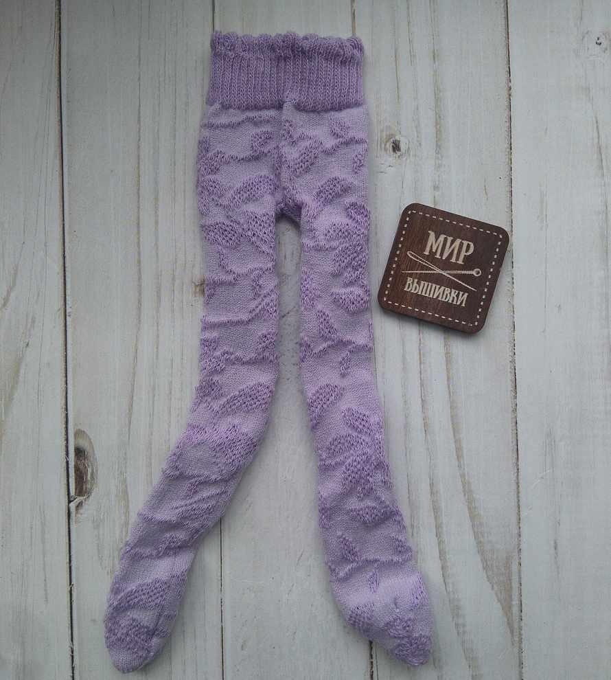 Колготки на куклу, фиолетовые, 20-25 см